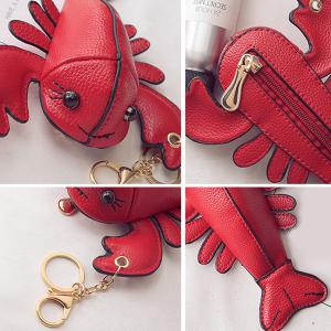 Lobster Shaped Funny Coin Purse - RED