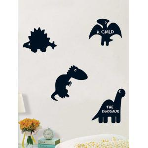 Cartoon Dinosaur Blackboard Wall Decal with Chalk