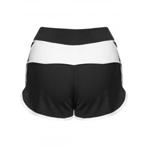 Mini Color Block Running Shorts - WHITE S