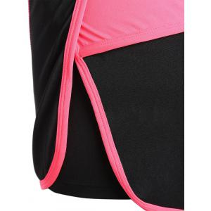 Mini Color Block Running Shorts - PEACH RED L