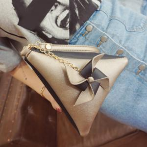 Color Block Triangle Shaped Wristlet -