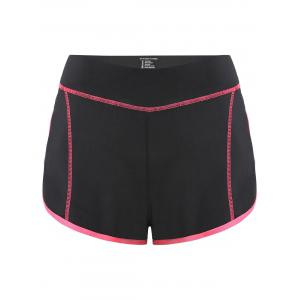 Mini Color Block Running Shorts - Peach Red - S