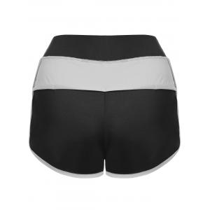 Mini Color Block Running Shorts -