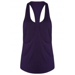 Racerback Workout Athletic Running Tank Top - Violet Foncé XL