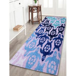 Indoor Outdoor Turtle Coral Velvet Area Rug