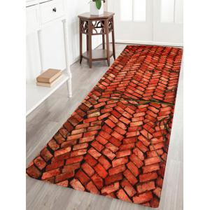 Soft Absorbent Coral Velvet Brick Area Rug - Brick-red - W16 Inch * L47 Inch