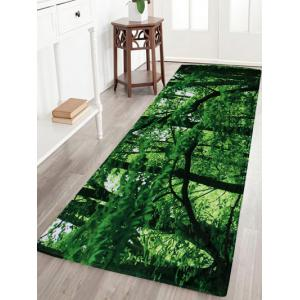 Forest Coral Velvet Absorbent Large Area Rug - Green - W16 Inch * L47 Inch