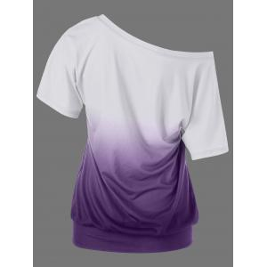 Butterfly Pattern Ombre T-Shirt -
