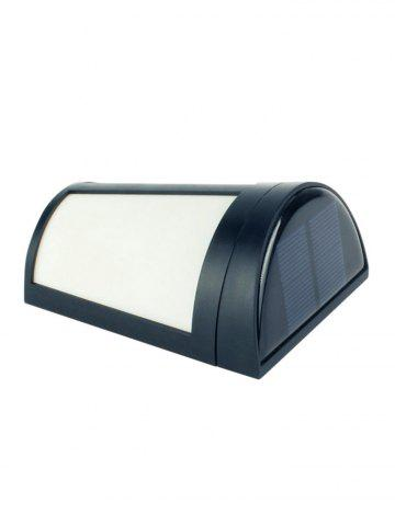 New Outdoor Solar Powered LED Wall Lamp - BLACK  Mobile