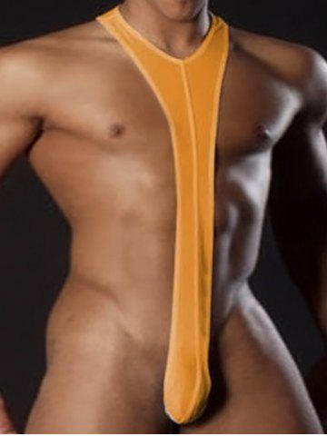 Buy Sexy Suspender Worstelen Club Mankini Thong - ORANGE M Mobile