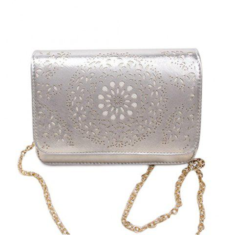 Shop Chain Hollow Out Crossbody Bag
