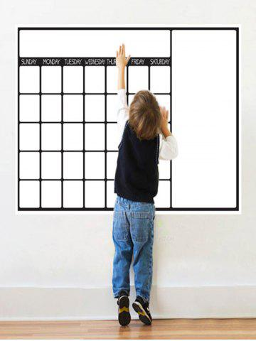 Fancy Graffiti Painting Weekly Schedule White Board Wall Sticker with Pen - WHITE  Mobile