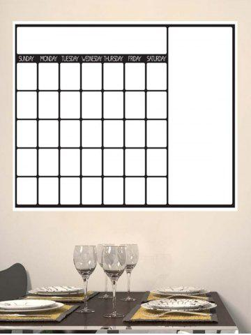 Best Graffiti Painting Weekly Schedule White Board Wall Sticker with Pen - WHITE  Mobile