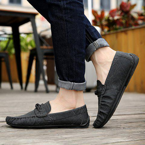 Outfits Stitching Crack Pattern Casual Shoes - 40 BLACK Mobile