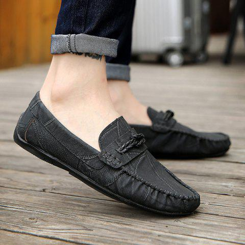 Outfit Stitching Crack Pattern Casual Shoes - 40 BLACK Mobile