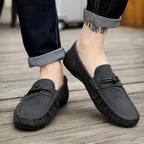 Online Stitching Crack Pattern Casual Shoes - 40 BLACK Mobile