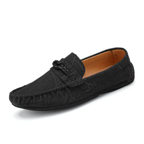 Store Stitching Crack Pattern Casual Shoes - 40 BLACK Mobile