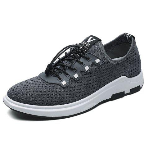 Latest String Mesh Casual Shoes - 40 GRAY Mobile