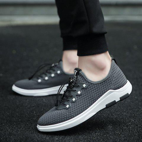 New String Mesh Casual Shoes - 40 GRAY Mobile
