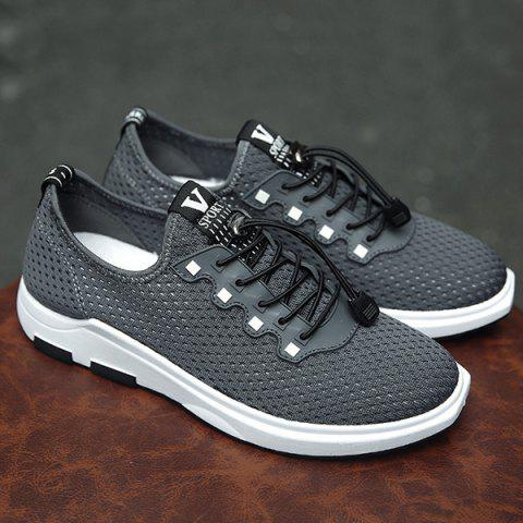 Cheap String Mesh Casual Shoes - 40 GRAY Mobile