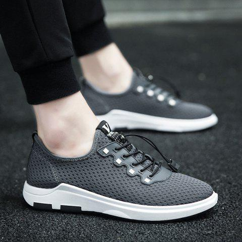 Fashion String Mesh Casual Shoes - 40 GRAY Mobile