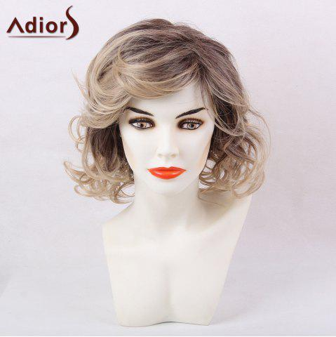 Store Adiors Short Side Bang Layered Shaggy Wavy Colormix Synthetic Wig