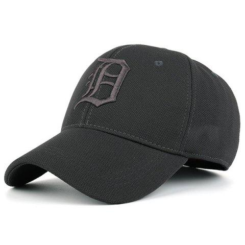 Hot Gothic Letter Embroidered Baseball Hat - GRAY  Mobile