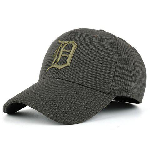 Gothic Letter Embroidered Baseball Hat - Army Green - M