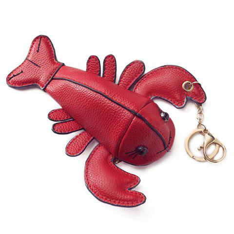 Trendy Lobster Shaped Funny Coin Purse RED