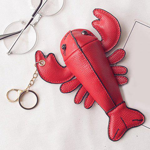 Sale Lobster Shaped Funny Coin Purse - RED  Mobile