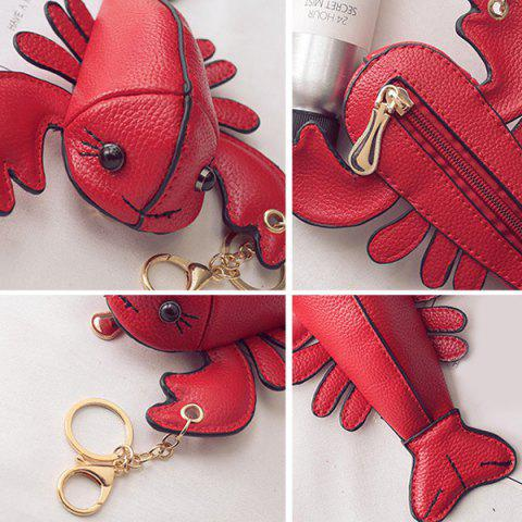 Fancy Lobster Shaped Funny Coin Purse - RED  Mobile