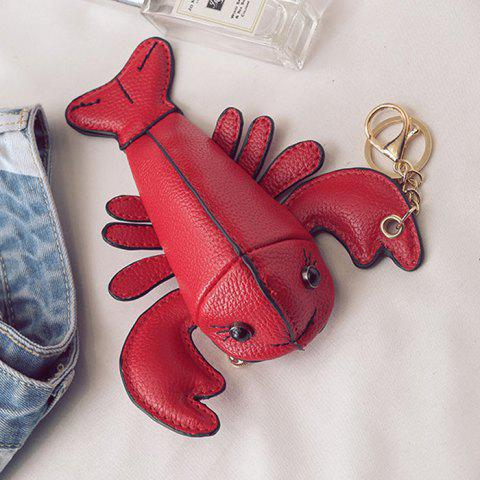 Online Lobster Shaped Funny Coin Purse - RED  Mobile