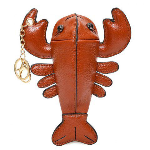 Affordable Lobster Shaped Funny Coin Purse - BROWN  Mobile