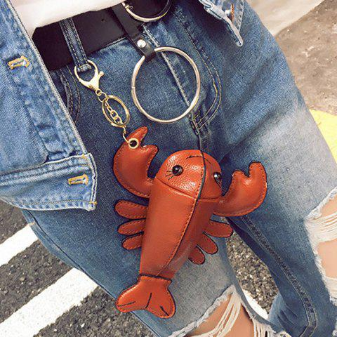 Sale Lobster Shaped Funny Coin Purse - BROWN  Mobile