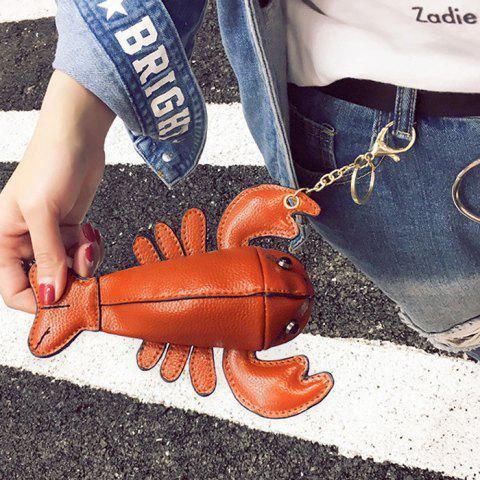 Online Lobster Shaped Funny Coin Purse - BROWN  Mobile