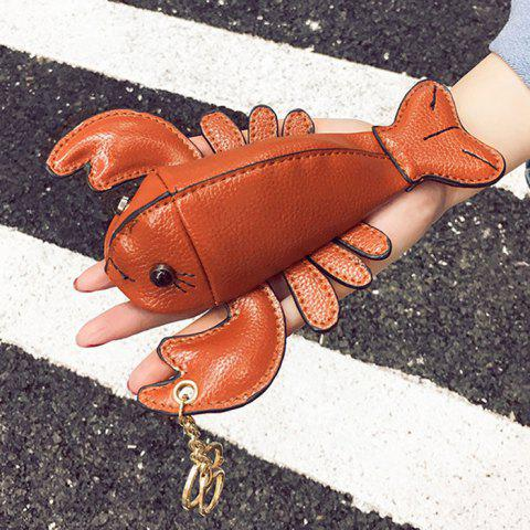 Discount Lobster Shaped Funny Coin Purse - BROWN  Mobile