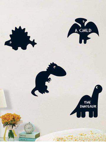 Cheap Cartoon Dinosaur Blackboard Wall Decal with Chalk - BLACK  Mobile