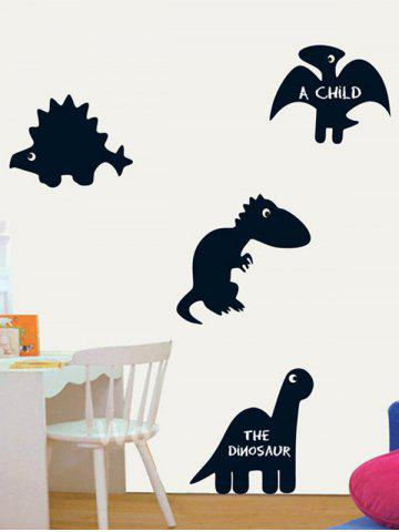 Outfit Cartoon Dinosaur Blackboard Wall Decal with Chalk - BLACK  Mobile