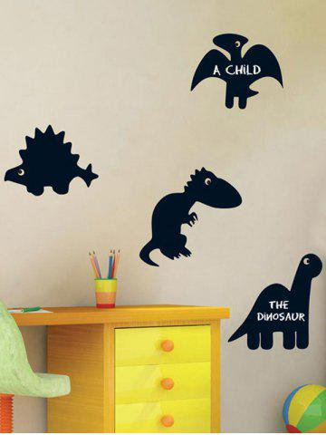 Online Cartoon Dinosaur Blackboard Wall Decal with Chalk - BLACK  Mobile