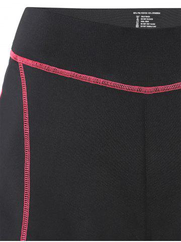 Online Mini Color Block Running Shorts - L PEACH RED Mobile