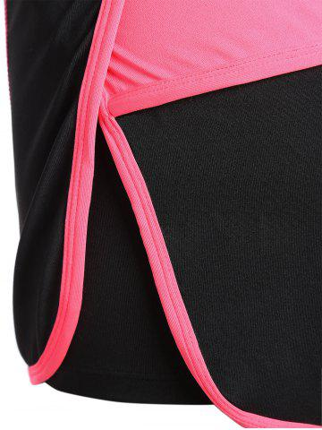 Store Mini Color Block Running Shorts - L PEACH RED Mobile