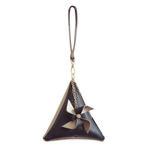 New Color Block Triangle Shaped Wristlet