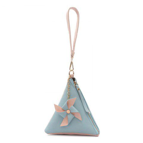 Store Color Block Triangle Shaped Wristlet
