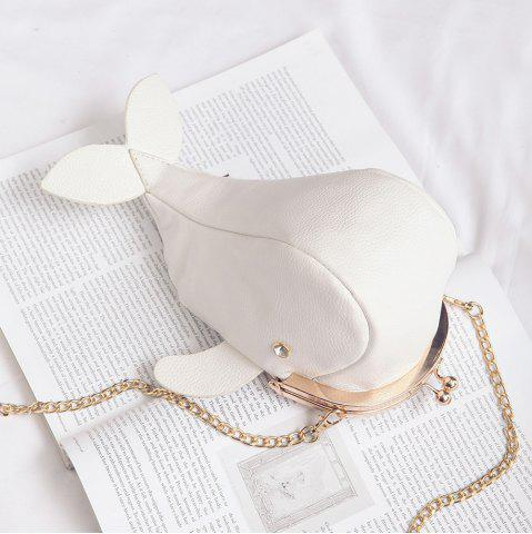 Whale Shaped Funny Crossbody Bag - White - W59 Inch * L59 Inch