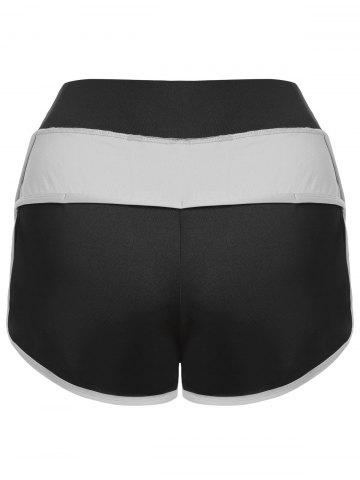 Outfits Mini Color Block Running Shorts - GRAY M Mobile