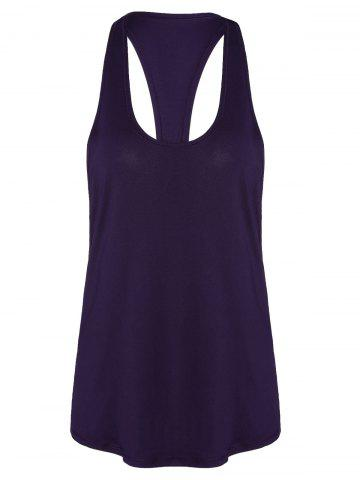 Racerback Workout Athletic Running Tank Top Violet Foncé XL