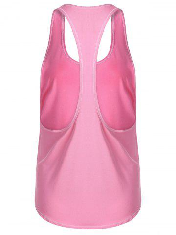 Outfits Racerback Workout Athletic Running Tank Top - XL PINK Mobile
