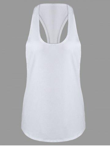Shops Racerback Workout Athletic Running Tank Top WHITE S