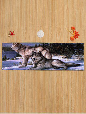Cheap Coral Velvet Wolf Animal Large Area Rug - W16 INCH * L47 INCH COLORMIX Mobile