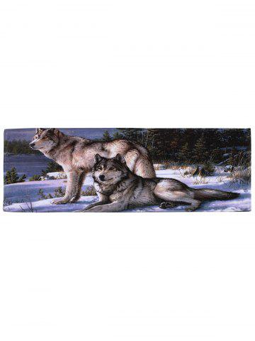 Outfit Coral Velvet Wolf Animal Large Area Rug - W16 INCH * L47 INCH COLORMIX Mobile